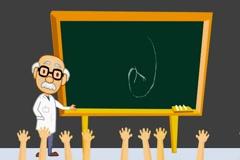 Kidney - anatomy class  - cartoon teacher Stock Footage