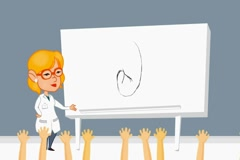 Kidney - anatomy lessons  - cartoon blonde Stock Footage