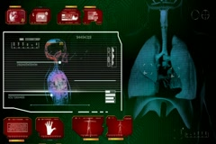 Lungs  - Multi Interface Scan - red 01 Stock Footage