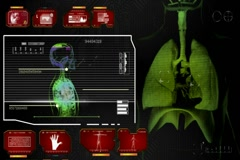 Lungs - Super Spy Monitor - red 01 Stock Footage