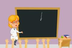 Lungs - Teacher Explaining - Cartoon 02 Stock Footage