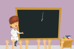 Lungs - Teacher Explaining - Cartoon 03 Stock Footage