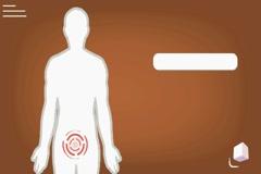 Vagina - vector animation - analysis - orange Stock Footage