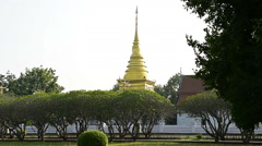 Wat Phra That Chang Kham in Nan Province, Thailand Stock Footage