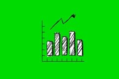 Grey Chart - Animation - Hand-Drawn - Green Screen - Loop Stock Footage