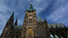 Timelapse of Saint Vitus Cathedral on a sunny day. Stock Footage