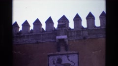1972: historic site people visiting observing  Stock Footage