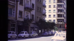 1972: holiday clip, vintage clip of street with cars Stock Footage