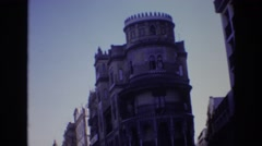 1972: a beautiful old building with lots of architectural details  Stock Footage