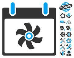 Fan Calendar Day Vector Icon With Bonus Stock Illustration