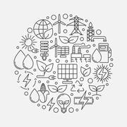 Green and alternative energy illustration Stock Illustration