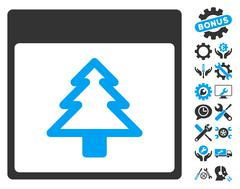 Fir Tree Calendar Page Vector Icon With Bonus Stock Illustration