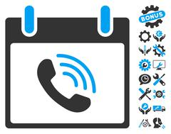 Phone Call Calendar Day Vector Icon With Bonus Stock Illustration
