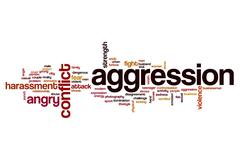 Aggression word cloud Stock Illustration