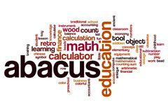 Abacus word cloud Stock Illustration
