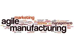 Agile manufacturing word cloud Stock Illustration