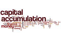 Capital accumulation word cloud Stock Illustration