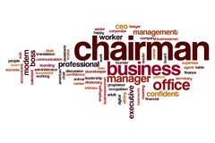 Chairman word cloud Stock Illustration