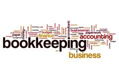 Bookkeeping word cloud Stock Illustration