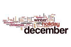 December word cloud Stock Illustration
