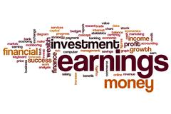 Earnings word cloud Stock Illustration