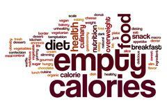 Empty calories word cloud Stock Illustration