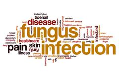 Fungus infection word cloud Stock Illustration
