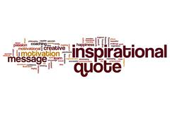 Inspirational quote word cloud Piirros