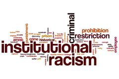 Institutional racism word cloud Stock Illustration