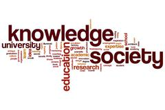 Knowledge society word cloud Stock Illustration