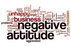 Negative attitude word cloud Stock Illustration