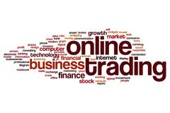Online trading word cloud Stock Illustration