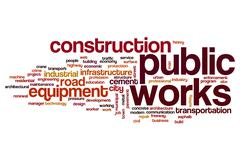Public works word cloud Stock Illustration