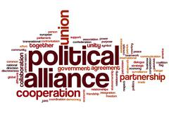 Political alliance word cloud Stock Illustration