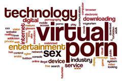 Virtual porn word cloud Stock Illustration