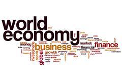 World economy word cloud Stock Illustration