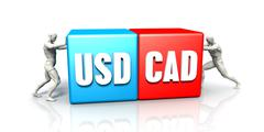 USD CAD Currency Pair Stock Illustration