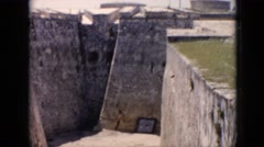 1956: visiting the ruins of an ancient castle CUBA Stock Footage