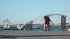 Failed skateboarding trick. Stock Footage