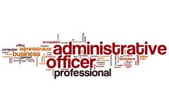 Administrative officer word cloud Piirros