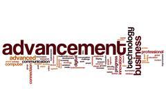 Advancement word cloud Stock Illustration