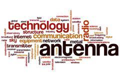 Antenna word cloud Stock Illustration