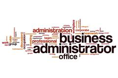Business administrator word cloud Stock Illustration