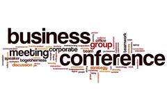 Business conference word cloud Stock Illustration