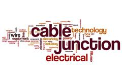 Cable junction word cloud Stock Illustration