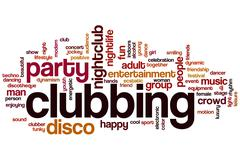 Clubbing word cloud Stock Illustration