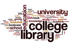 College library word cloud Piirros