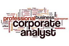 Corporate analyst word cloud Stock Illustration