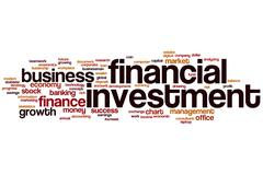 Financial investment word cloud Stock Illustration