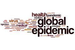 Global epidemic word cloud Stock Illustration
